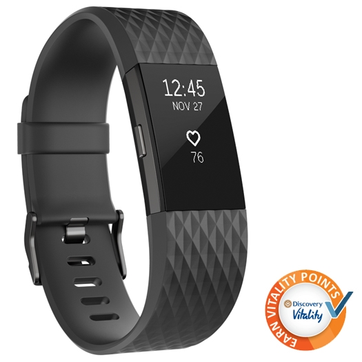 Fitbit Charge 2 Wristband Black Gunmetal Small - Shop and Ship Online South Africa