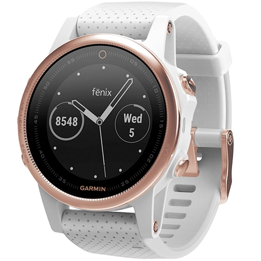 Garmin Fenix 5S Sapphire Rose Gold With White Band_1.jpg