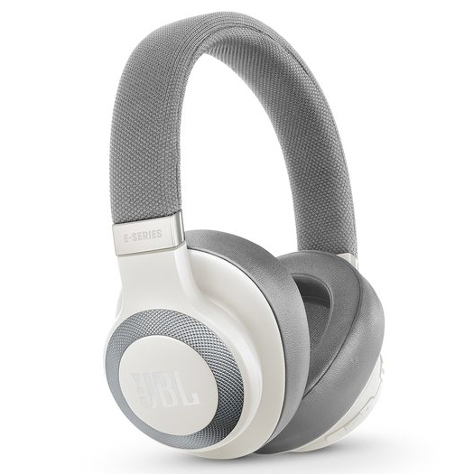 JBL E65BTNC Wireless Noise-Cancelling Headphones White