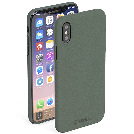 Krusell Sandby Cover For iPhone X/Xs Moss