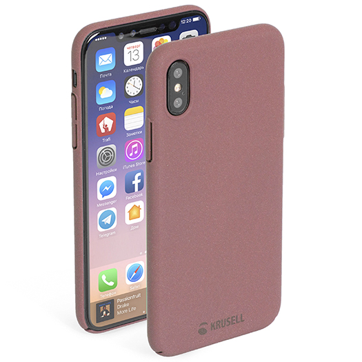 Krusell Sandby Cover For iPhone X Rust