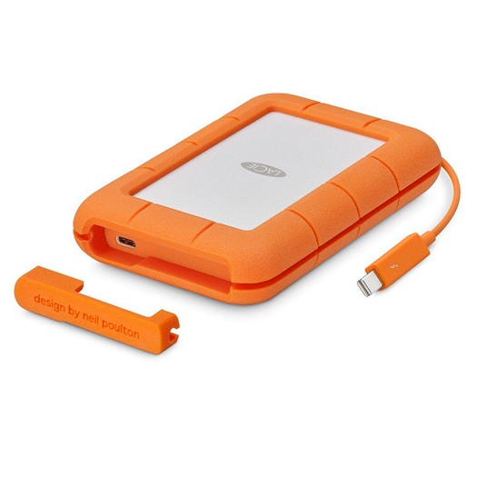 LaCie 2TB Rugged USB-C SECURE Mobile Drive Orange