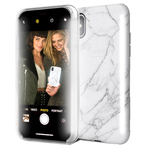 Lumee Duo Case For Iphone X Xs White Marble Shop And