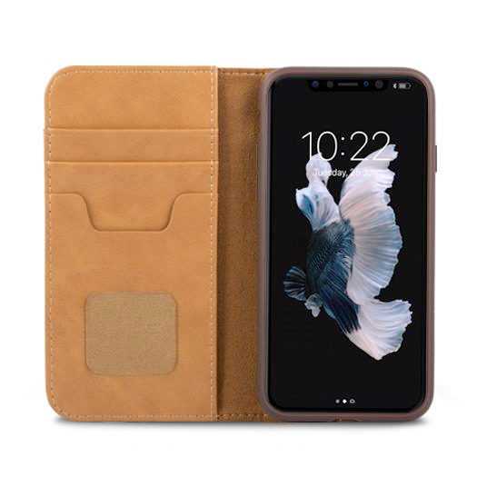 Moshi Overture Wallet Case For Iphone X Xs Brown Shop