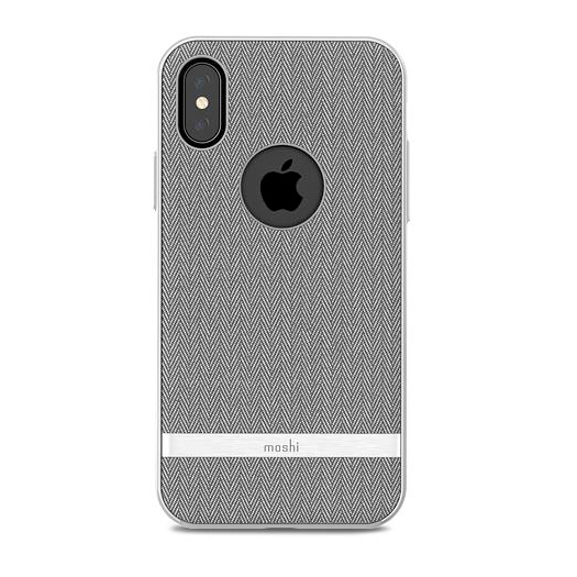 best sneakers 0c0e1 e232b Moshi Vesta Cover For iPhone X/Xs Herringbone Grey