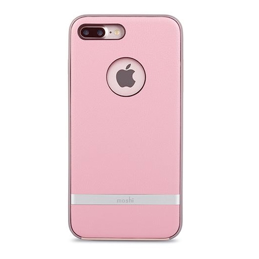 online store a8200 e8652 Moshi iGlaze Napa Leather Case For iPhone 7/8 PLUS Melrose Pink