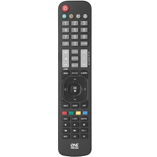 One For All Universal LG TV Remote Black (URC1911)