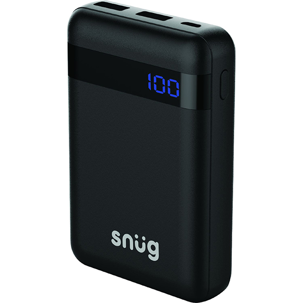 Snug 10000mAh Digital Display Power Bank Black