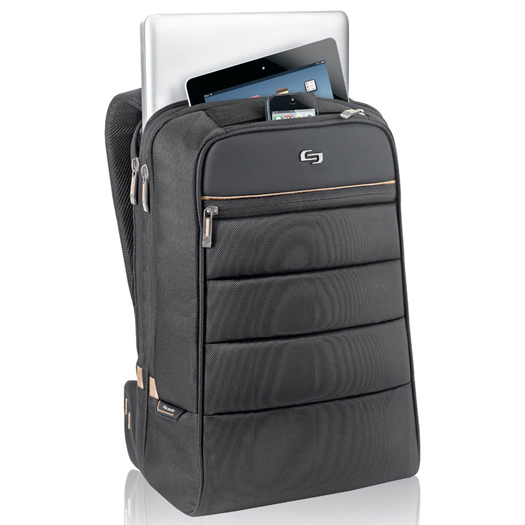 Solo Transit Laptop Backpack For Up To 15 6 Inch Laptops Black