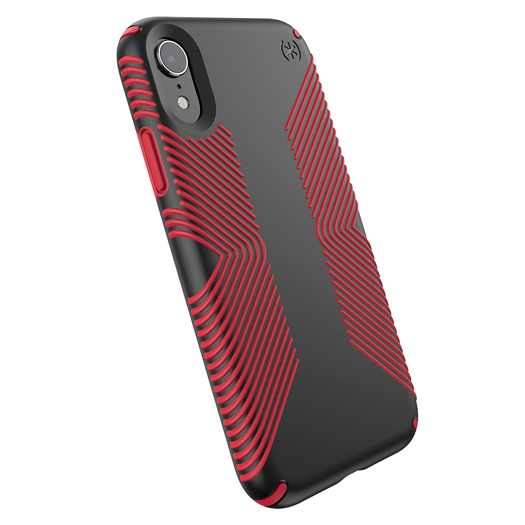 uk availability 39935 71e1c Speck Presidio Grip Case For iPhone XR Black/Red