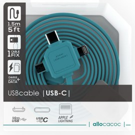 Allocacoc 3-In-1 USB Charge Sync Cable Blue.jpg