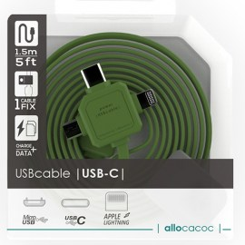Allocacoc 3-In-1 USB Charge Sync Cable Green.jpg