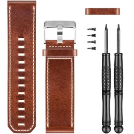 Garmin Leather Watch Band For Fenix 3_Fenix 3 HR Brown.jpg