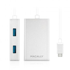 Macally 3.1 USB-C To USB A Hub Silver_1.jpg