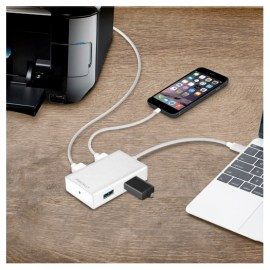 Macally 3.1 USB-C To USB A Hub Silver_2.jpg