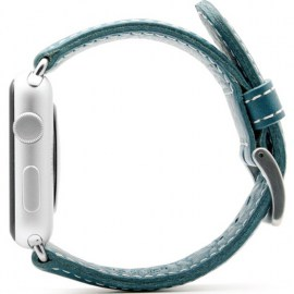 SLG D6 Italian Leather Strap For 42mm Apple Watch Blue_2.jpg