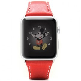 SLG D6 Italian Leather Strap For 42mm Apple Watch Red_1.jpg