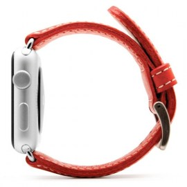 SLG D6 Italian Leather Strap For 42mm Apple Watch Red_2.jpg