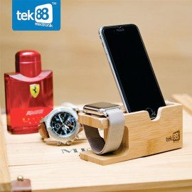 Tek88 Bamboo Wood Charging Stand For Apple Watch  _  iPhone_2.jpg