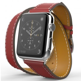 Tek88 Hermes Leather Double Band For 38mm Apple Watch Berry_1.jpg