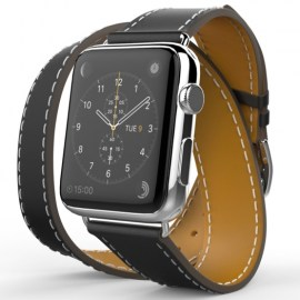 Tek88 Hermes Leather Double Band For 38mm Apple Watch Charcoal_1.jpg
