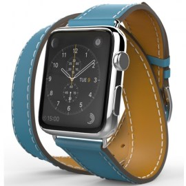 Tek88 Hermes Leather Double Band For 38mm Apple Watch Teal_1.jpg