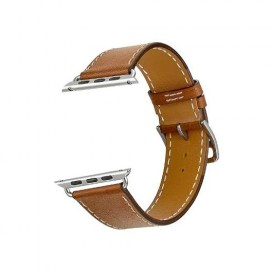 Tek88 Hermes Leather Single Tour Band For 42mm Apple Watch Brown.jpg