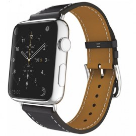 Tek88 Hermes Leather Single Tour Band For 42mm Apple Watch Charcoal.jpg