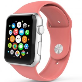 Tek88 Silicone Sports Band For 42mm Apple Watch Coral.jpg